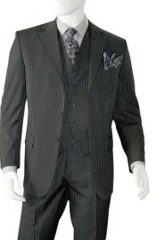 Albeto Nardoni Charcoal Grey Pinstripe
