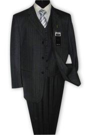 JSM-4687 Alberto Nardoni 3 Button Vested Suits 100% Wool
