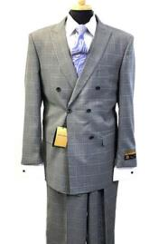 JSM-4723 Alberto Nardoni Best Mens Italian Suits Brands Double