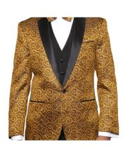 JSM-4726 Paisley-200VP Gold Two Toned Alberto Nardoni Best Mens