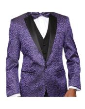 JSM-4753 Purple Paisley-200VP Two Toned Alberto Nardoni Best Mens