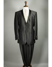 mens Shiny Flashy Sharkskin Black