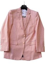 JSM-6363 Mens Striped Cotton Blend seersucker suit Multi Color