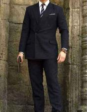 CH1942 kingsman Double Breasted Wool Blue suit