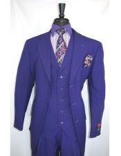 Single Breasted Purple vested