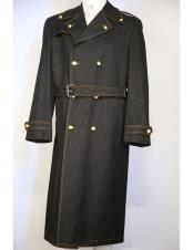 Mens Black stylish trench