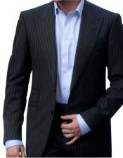 GD1623 Mens 2 Button Single Breasted Peak Lapel Charcoal