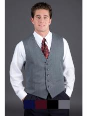 MO593 Mens  Matching Grey ~ Gray Vest Black