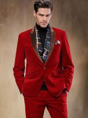 MO594 Red Velvet Suit