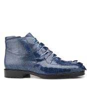 EK19 Belvedere Mens Leather Lining Lace Up Blue Jean