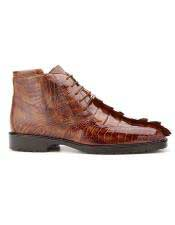EK20 Belvedere Mens Brandy/Antique Brown Genuine Hornback And Genuine
