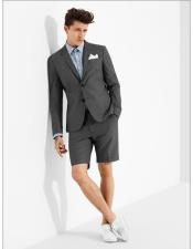 MO606 mens summer business suits with shorts pants set