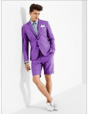 MO617 mens summer business suits with shorts pants set