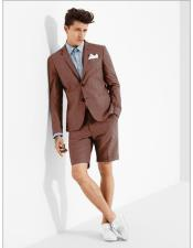 MO619 mens summer business suits with shorts pants set