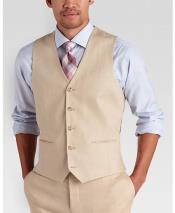 GD1831 Mens 2 Piece Linen Causal Outfits Vest &