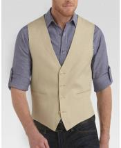 GD1834 Mens 2 Piece Linen Causal Outfits Vest &