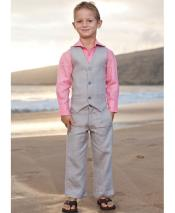 GD1837 Mens 2 Piece Linen Causal Outfits Vest &