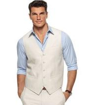GD1838 Mens 2 Piece Linen Causal Outfits Vest &