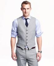 GD1839 Mens 2 Piece Linen Causal Outfits Vest &