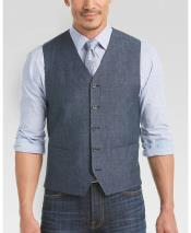 GD1840 Mens 2 Piece Linen Causal Outfits Vest &
