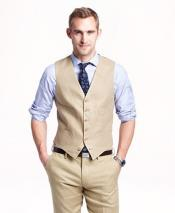 GD1841 Mens 2 Piece Linen Causal Outfits Vest &