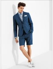 MO637 mens summer business suits with shorts pants set