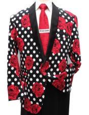 Polk Dot Tuxedo Dinner Jacket Blazer