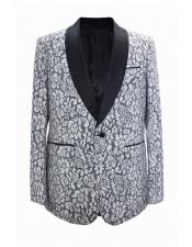 EK66 Floral ~ Flower Print Novelty Holiday Mens Blazer
