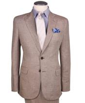 Linen-2BV One chest pocket notch lapel regular fit suit