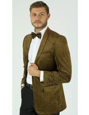 KNY_MZST Velvet ~ Velour Dinner Tuxedo Jacket And Gold
