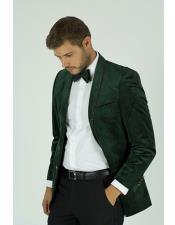 KNY_MZST Velvet ~ Velour Green Dinner Tuxedo Jacket And