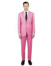 Men's classic fit pink two button