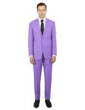 classic fit single breasted Lavender Suit  - Lilac