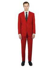single breasted Alberto Nardoni stylish red suit