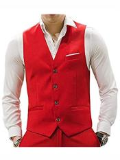MO673 Mens Matching Waistcoat Causal Suit Vests & Pants