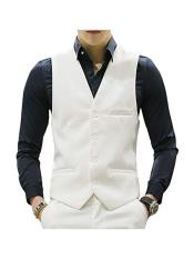 MO677 Mens Matching Waistcoat Causal Suit Vests & Pants