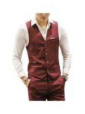 MO678 Mens Matching Waistcoat Causal Suit Vests & Pants