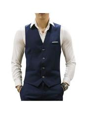 MO679 Mens Matching Waistcoat Causal Suit Vests & Pants
