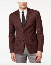 EK123 Mens Single Breasted Notch Lapel Slim Fit Paisley