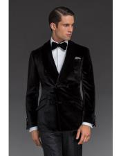 EK128 Alberto Nardoni Double Breasted Velvet Dinner Jacket Tuxedo