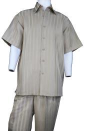 JA384 Mens Button Fastening Pocketless Short Sleeve Walking Suit