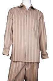 JA390 Mens Button Fastening Centerline Stripe Walking Suit