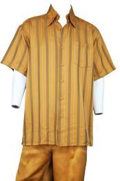 JA392 Mens Suture Stripe Button Fastening Walking Suit