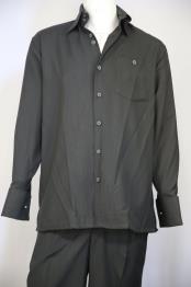 JA398 Mens Monotone Button Fastening Walking Suit