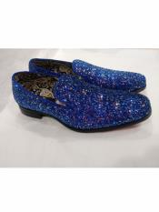 MO702 Mens Slip On Style Amazing Glitter Royal Dress