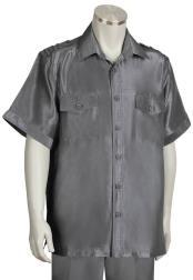 JA400 Mens Metallic Shoulder Accent Button Fastening Walking Suit