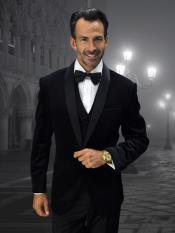 WTX-Velvet2BV Alberto Nardoni Mens Velvet Suit Jacket & Pants