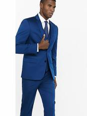 MO766 Mens Indigo ~ Cobalt Blue Suit Separates Sale