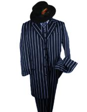 Dark Navy And Bold Pinstripe Fashion