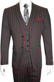 MO790 Mens Bold Gangster 1920s Vintage Gangster Bold Stripe